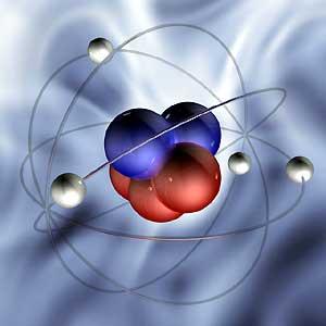 Атом состоит из атомного ядра и окружающего его электронного облака.